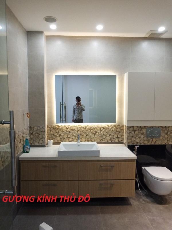 gương đèn led phòng tắm nhà tắm